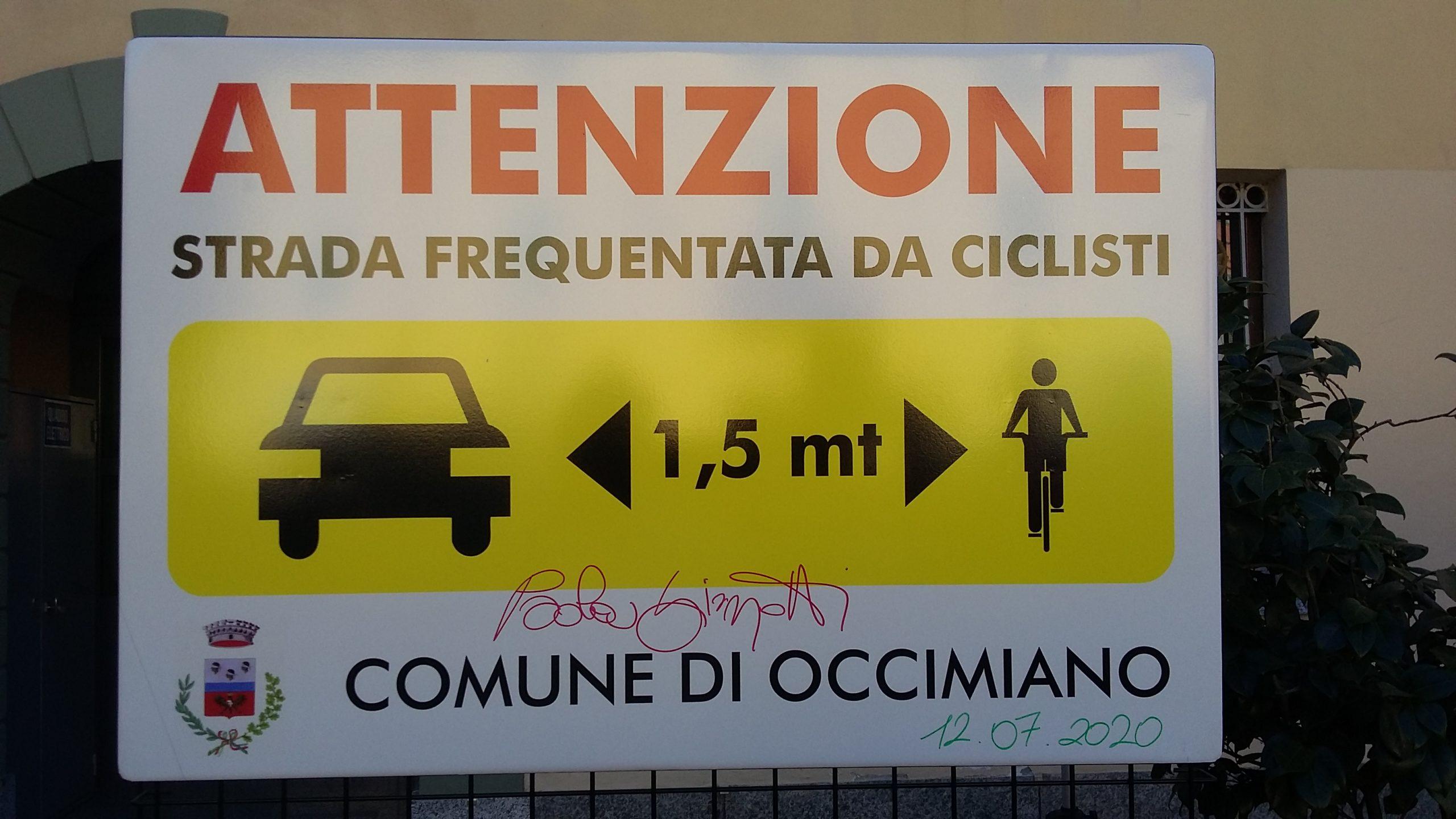 tappa ad Occimiano per la campagna salvaciclista con Paola Gianotti