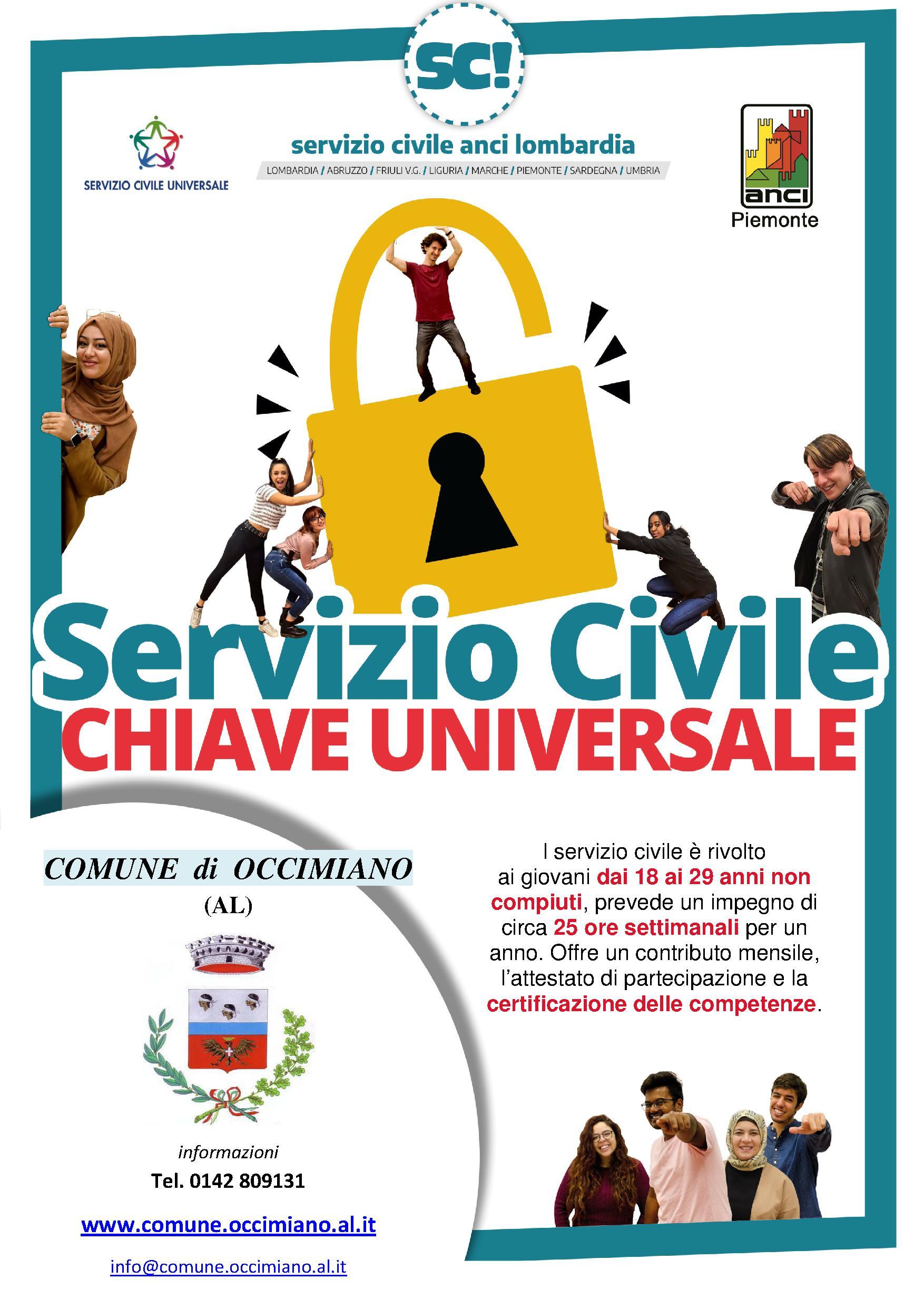 scegli il Servizio Civile con il Comune di Occimiano