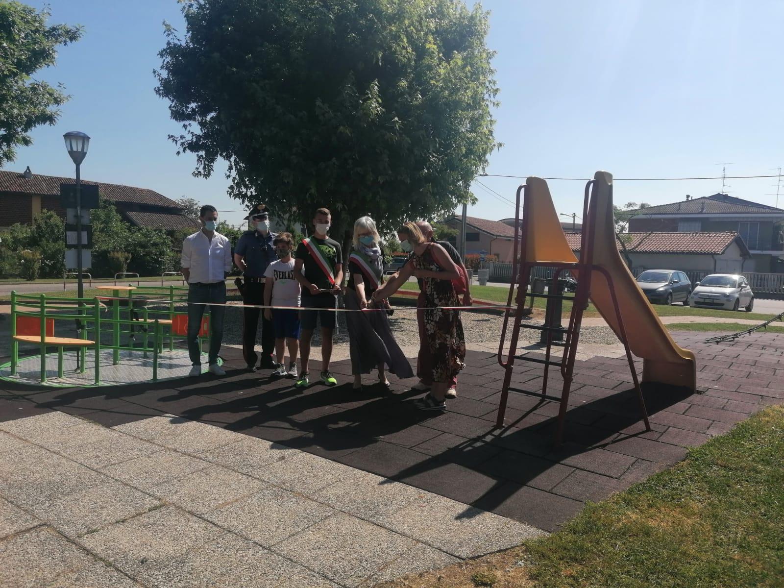 10 giugno 2021 in inugurazione Parco giochi inclusivo G.Rodari