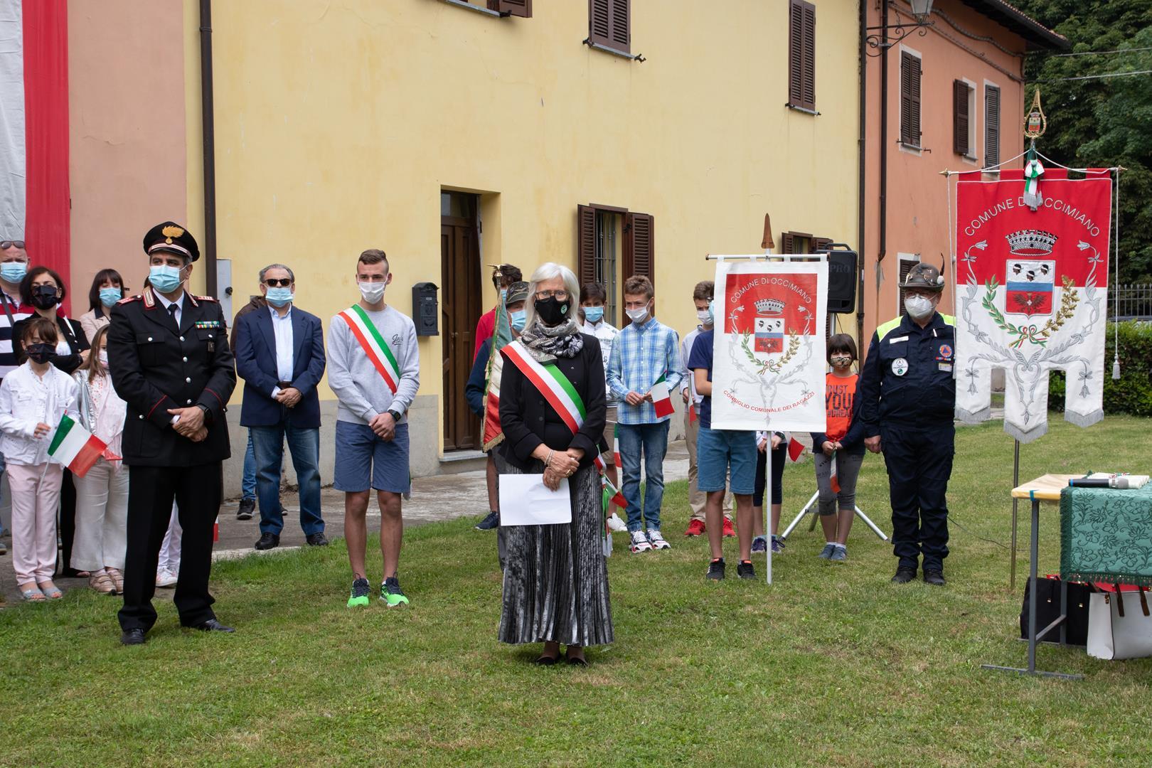 2 giugno 2021 Festa della Repubblica- neo diciottenni- inaugurazione targa alla memoria