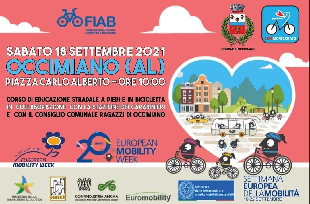 settimana della mobilità sostenibile  evento per ragazzi e adulti  in collaborazione con Comando Carabinieri e FIAB