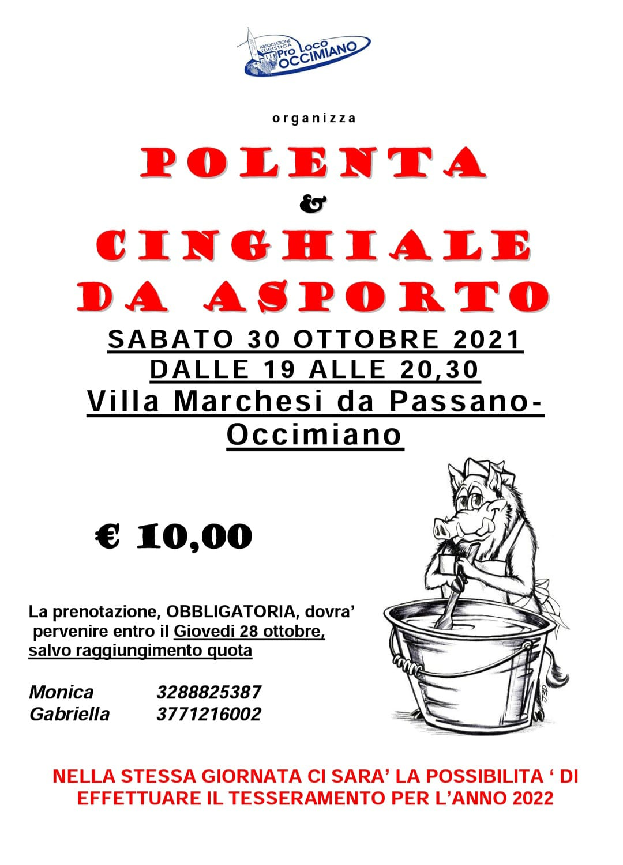 polenta e cinghiale con la Pro Loco – sabato 30 ottobre